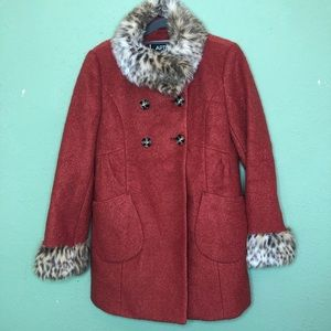 Apt. 9 Faux Fur and Wool Blend Coat Size Small